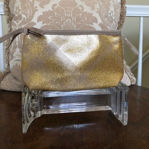 Chic Burberry Beauty gold metallic Make-up Bag